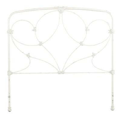 Victorian Style Painted Wrought Iron Full Size Headboard