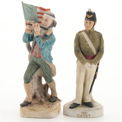 """Lefton China """"1851 Cadet"""" and American Revolution Fife Player, Late 20th Century"""
