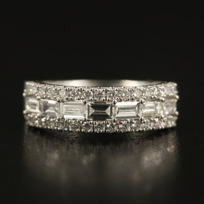 EFFY 1.17 CTW Diamond Triple Row Ring