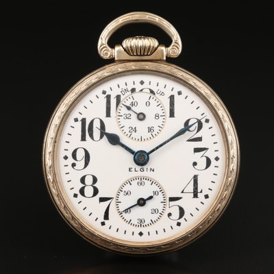 1921 Elgin, UP-DN Indicator Pocket Watch