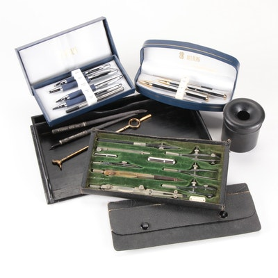 "Keuffel & Esser Co. ""Challenge"" Drafting Kit, Bill Blass Pen Sets, and More"