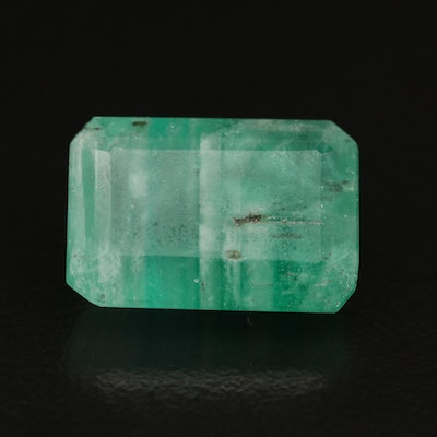 Loose 8.22 CT Cut Cornered Rectangular Beryl