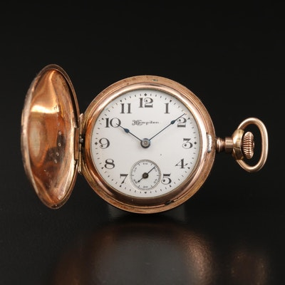 1911 Hampden Small Hunting Case Pocket Watch