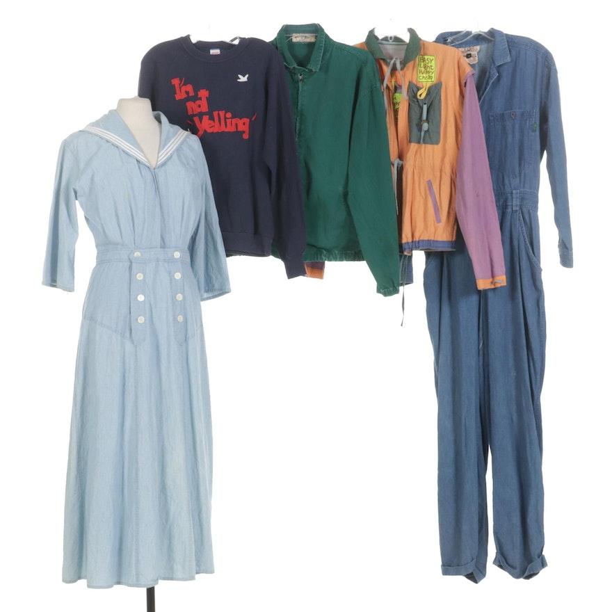 Bis Bis Gene Ewing Jumpsuit, The J. Peterman Co. Dress & Other Vintage Separates