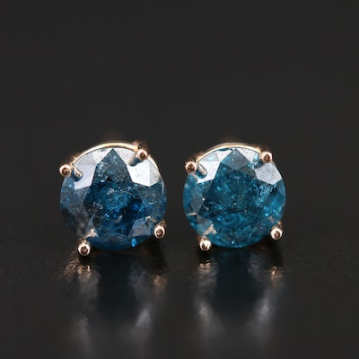 14K 1.50 CTW Diamond Stud Earrings