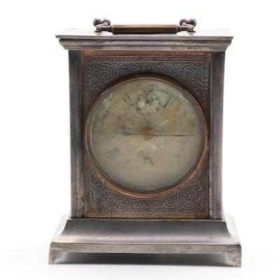 "Seth Thomas ""Joker"" Alarm Strike Carriage Clock, Late 19th Century"
