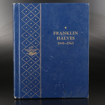 Complete Whitman Binder of Franklin Silver Half Dollars, 1948–1963