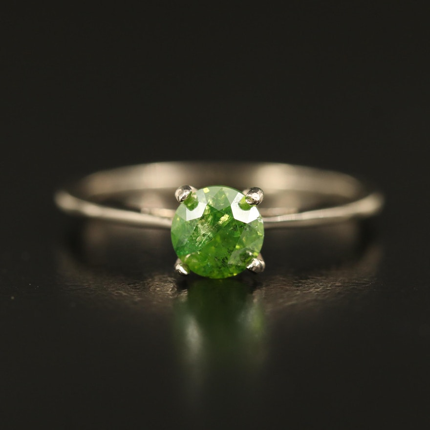 14K 0.80 CT Diamond Solitaire Ring