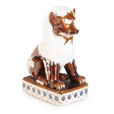 Chinese Style Glazed Ceramic Guardian Lion