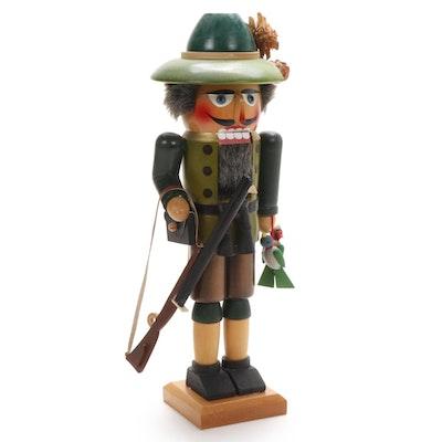 "Steinbach ""Bird Hunter"" Handcrafted German Nutcracker, Late 20th Century"