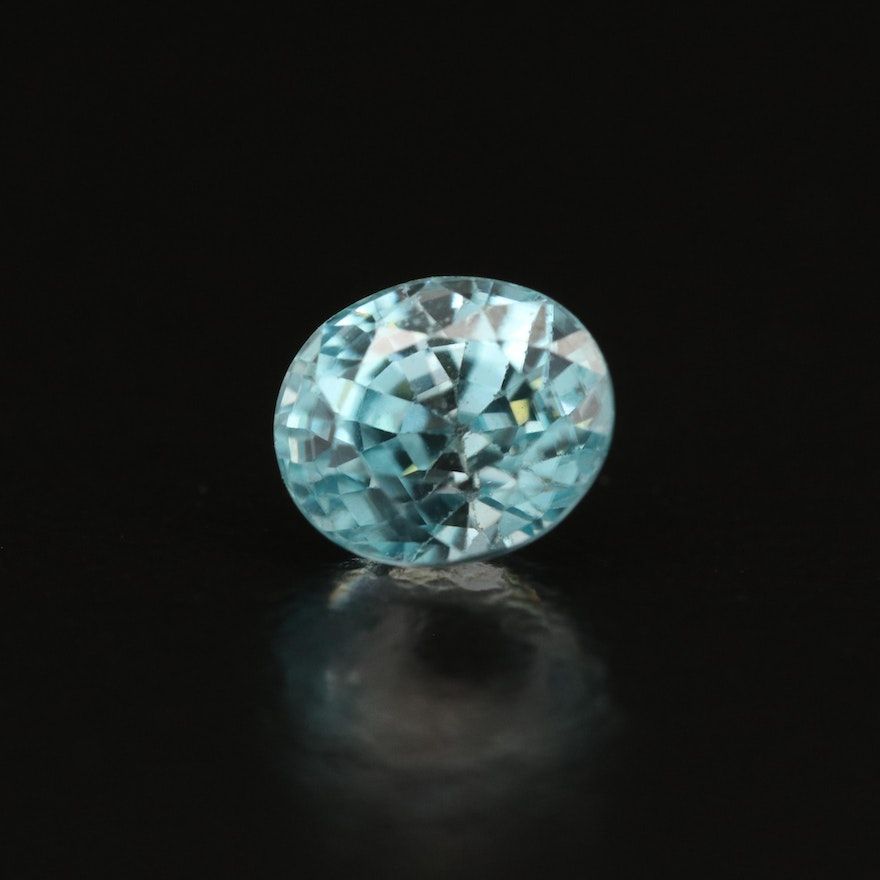 Loose 1.18 CT Oval Faceted Zircon