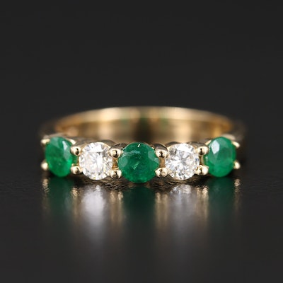 EFFY 14K Emerald and Diamond Ring