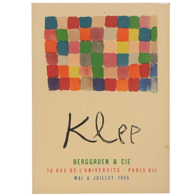 Photolithograph after Paul Klee Exhibition Poster
