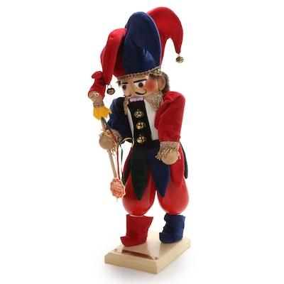 """Steinbach """"Court Jester"""" Handcrafted Wood Nutcracker"""