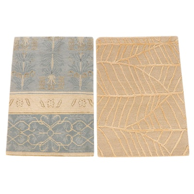 2' x 2'11 Hand-Knotted Nepalese Accent Rugs from The Rug Gallery