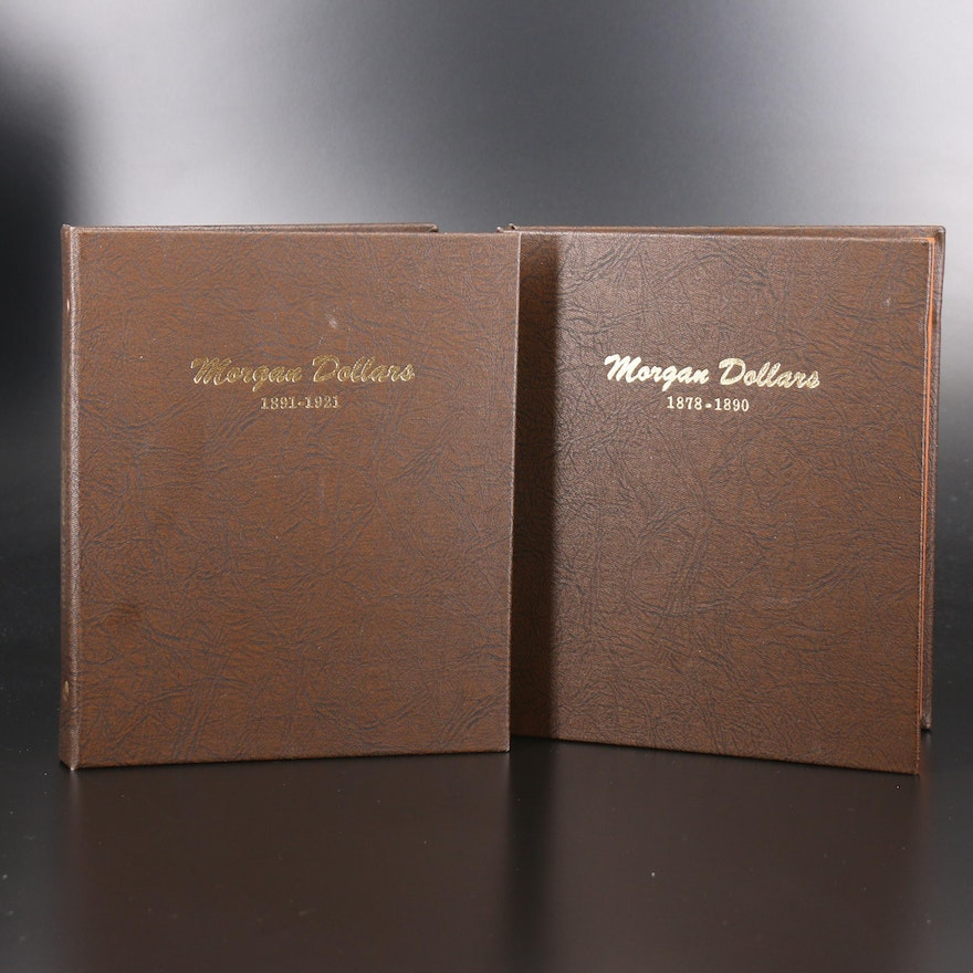 Forty-Four Morgan Silver Dollars in Dansco Album Collection, 1878 to 1921
