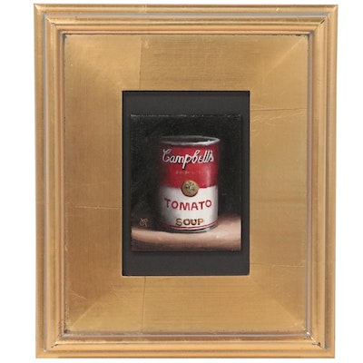 Jane Palmer Still Life Oil Painting of Campbell's Soup Can