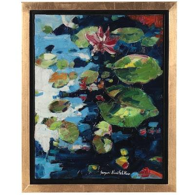 "Serguei Novitchkov Oil Painting ""Lilies"""