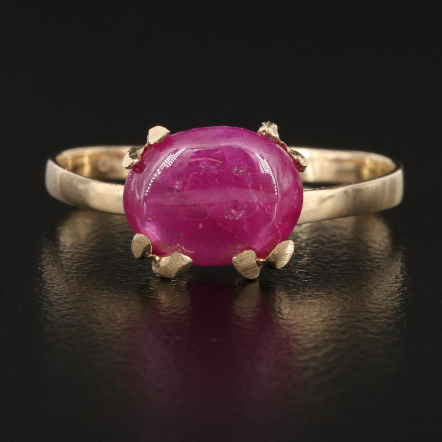 14K 1.56 CT Ruby East-West Ring