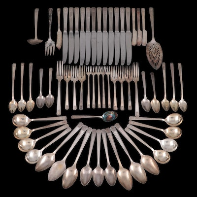 "Oneida ""Noblesse"" Silver Plate Flatware and Serving Utensils"
