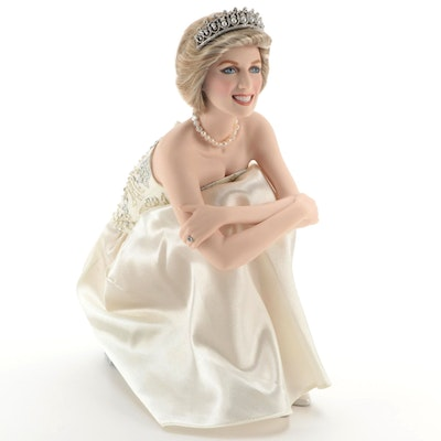 "Franklin Mint ""Diana, Portrait of a Princess"" Porcelain Doll with COA"