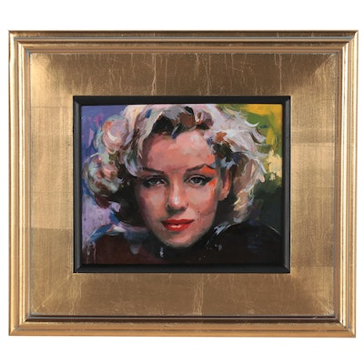"Adam Deda Oil Painting ""Marilyn,"" 2020"