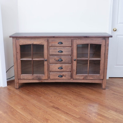 Mexican Pine Rustic Media Console