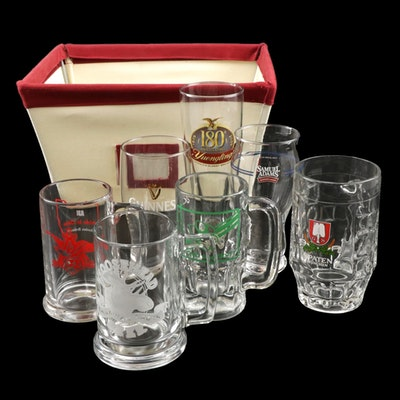 Beer Glassware Featuring Guinness, Samuel Adams, Moosehead and More