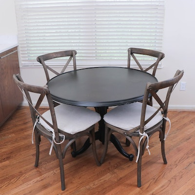 """Restoration Hardware French Tilt Top Table with """"Madeline"""" Side Chairs"""
