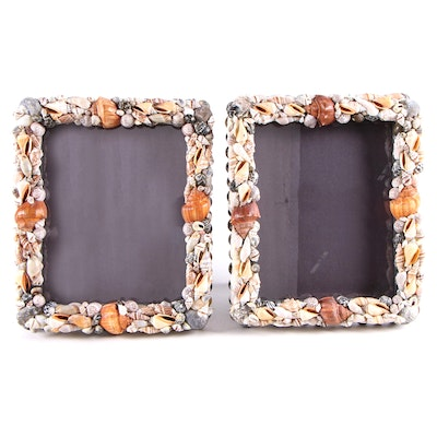 Seashell Encrusted Picture Frames