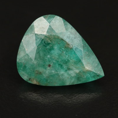 Loose 7.78 CT Pear Faceted Beryl