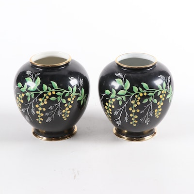Pair of German Erphila Porcelain Vases, Early to Mid 20th Century