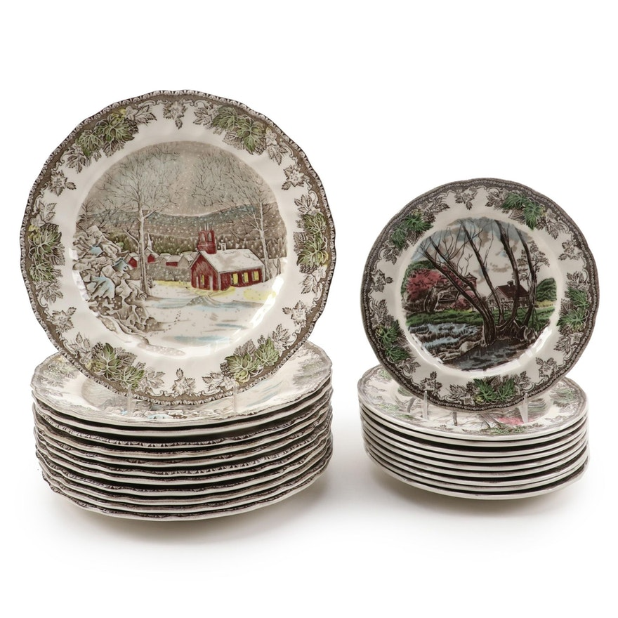 "Johnson Bros. ""The Friendly Village"" Ceramic Dinnerware, Mid-Late 20th Century"