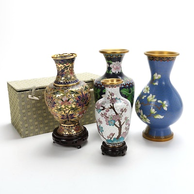 Chinese Cloisonné and Champlevé Vases
