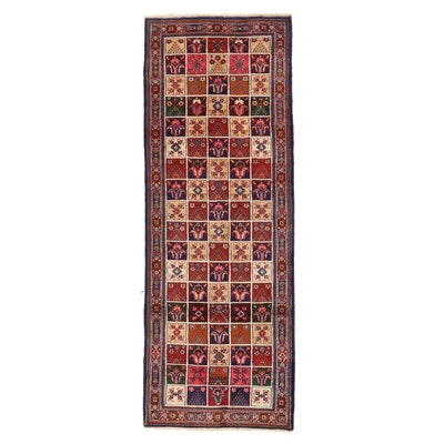 3'6 x 9'9 Hand-Knotted Persian Bakhtiari Garden Panel Long Rug