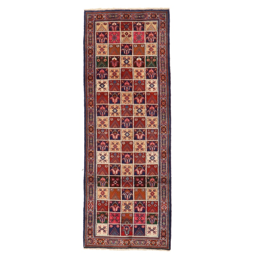 3'6 x 9'9 Hand-Knotted Persian Bakhtiari Garden Panel Long Rug