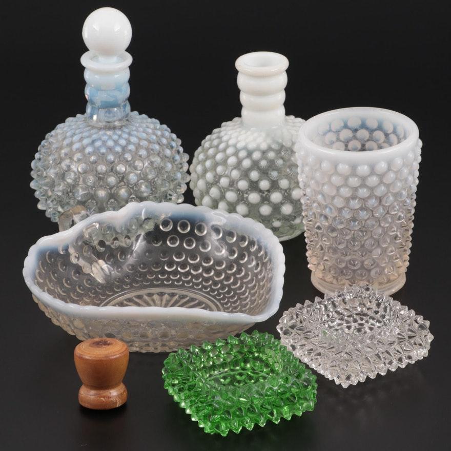 Hobnail Glass Tableware and Décor, Mid-20th C.
