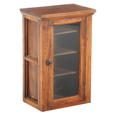 American Primitive Pine Countertop Display Cabinet, Late 19th/Early 20th Century