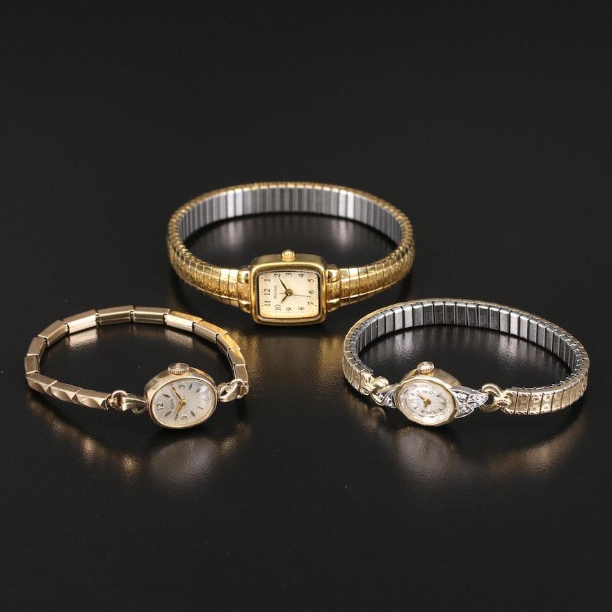 Bulova, Elgin and Pulsar Wristwatches