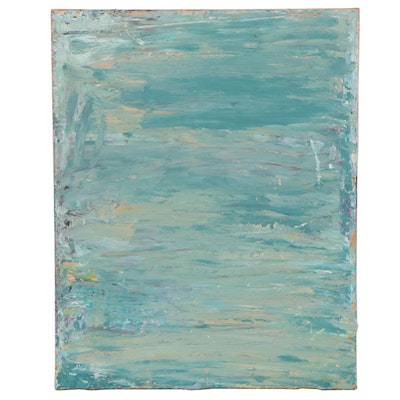 Elaine Neumann Abstract Oil and Cold Wax Painting, 21st Century