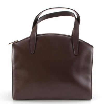 Gucci Handbag in Smooth Brown Leather