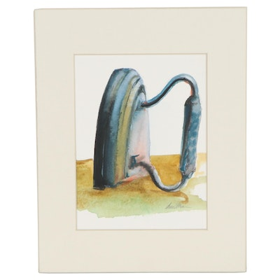 Watercolor Painting of Antique Iron, 21st Century