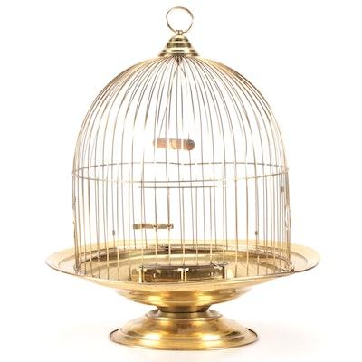 Leon Brass Beehive Bird Cage, Mid-20th Century