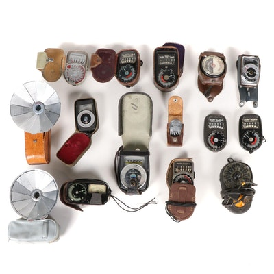 Photography Light Meter Collection, Vintage