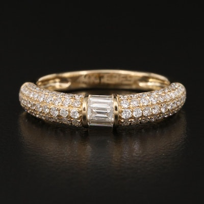 EFFY 14K Pavé Diamond Band