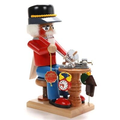 "Steinbach ""Blackforest Clockmaker"" Wooden Nutcracker"