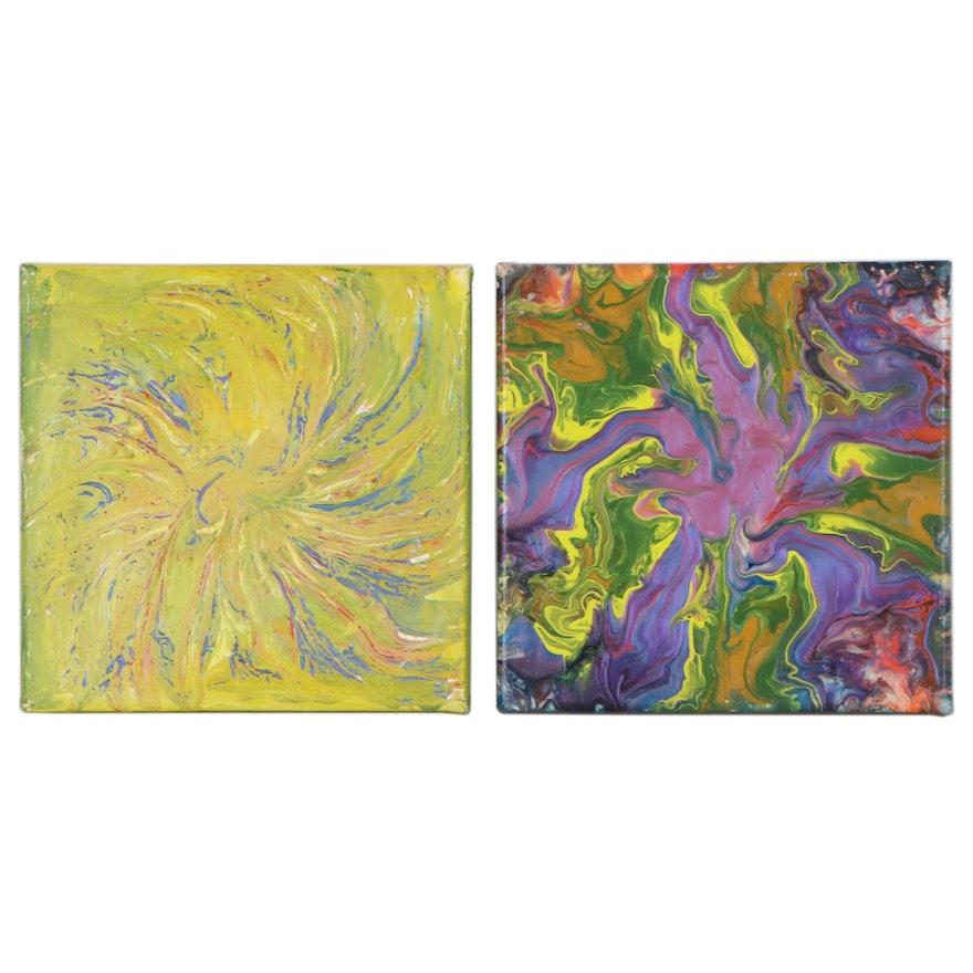 Elaine Neumann Abstract Acrylic Paintings, 21st Century