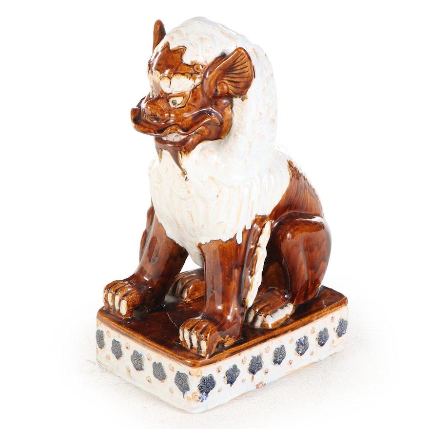 Chinese Style Glazed Ceramic Guardian Lion