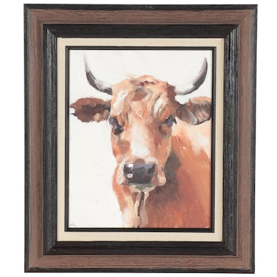James Coates Oil Painting of a Cow
