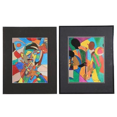 "Grace E. Haggard Jazz Portrait Giclées ""Avant Garde"" and ""Let's Play"""